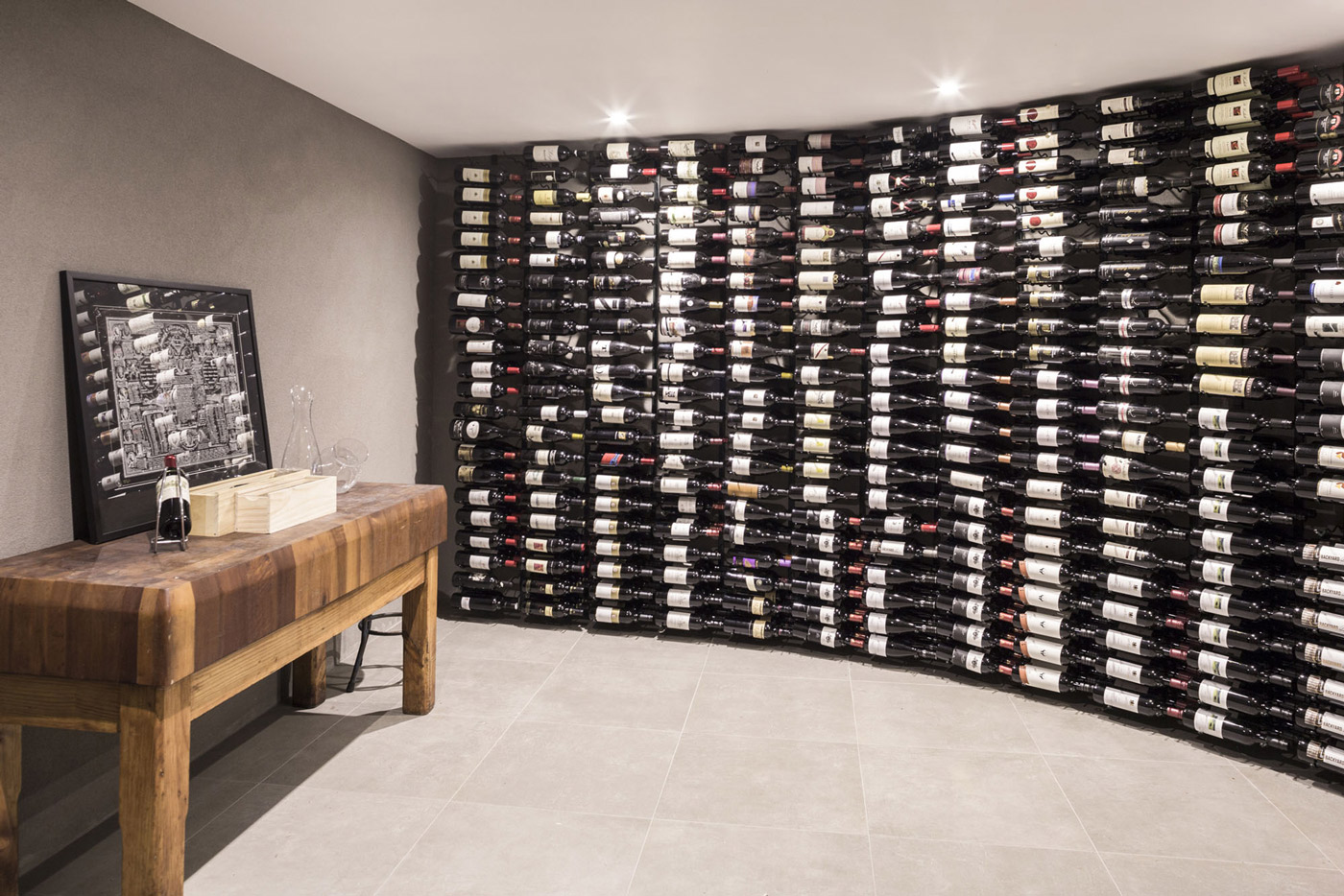 Wine Room, Floor-to-Ceiling Racks