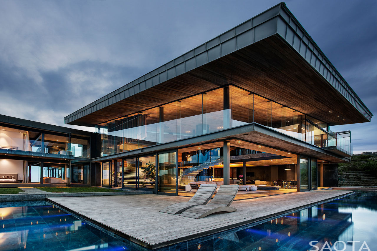 Wooden Terrace, Pool, Glass Walls