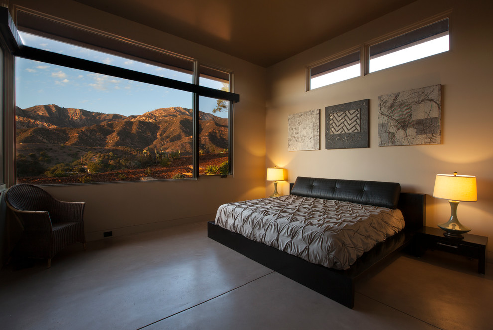 Bedroom with Mountain Views