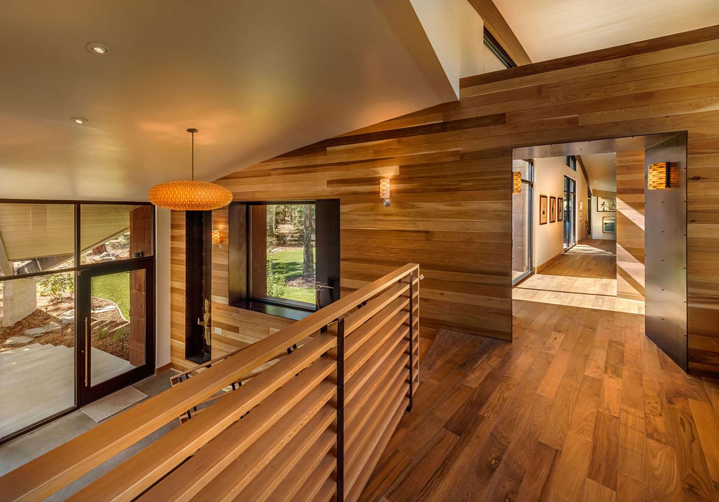 Landing,  Wood Walls & Floor