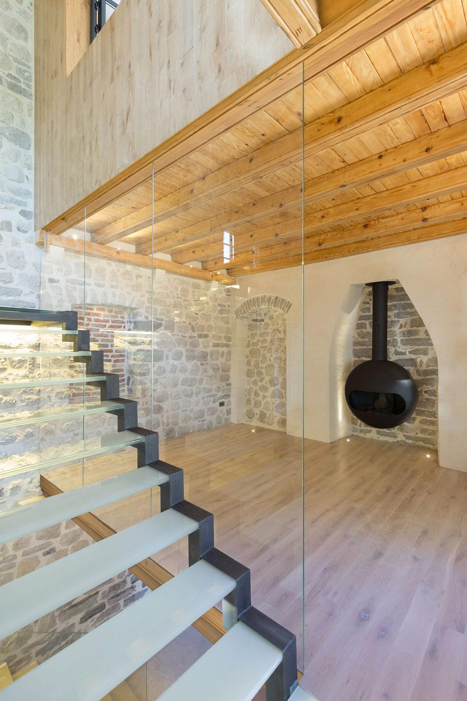 Contemporary Fireplace, Wood Flooring