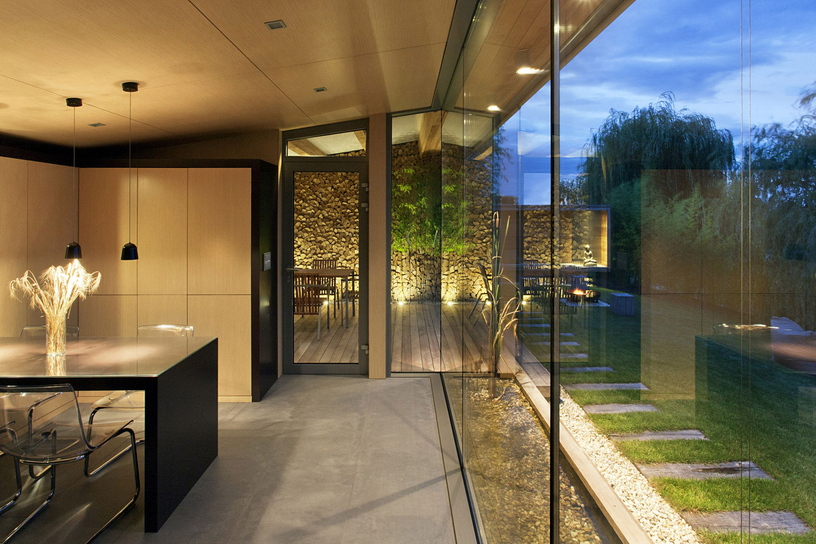 Dining Room, Glass Walls