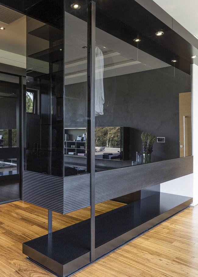 Dark Glass Cupboard