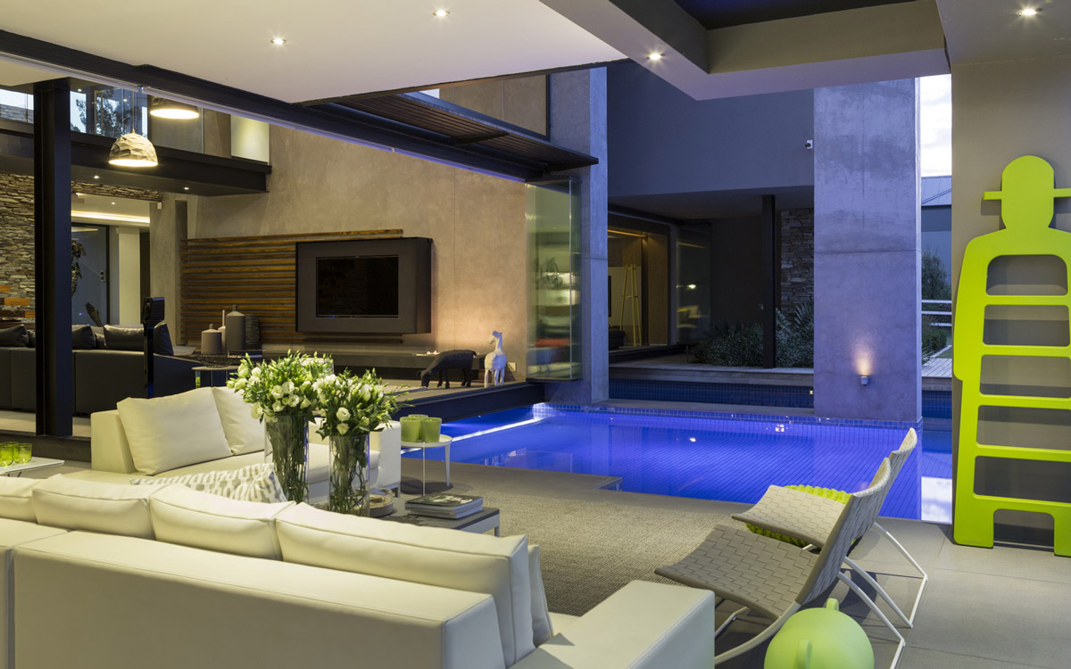 Terrace, Open Plan Pool Area
