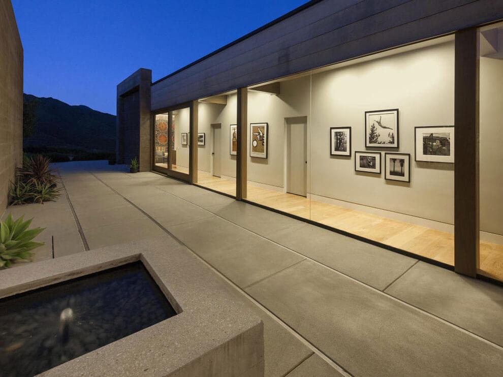 Hallway, Glass Walls