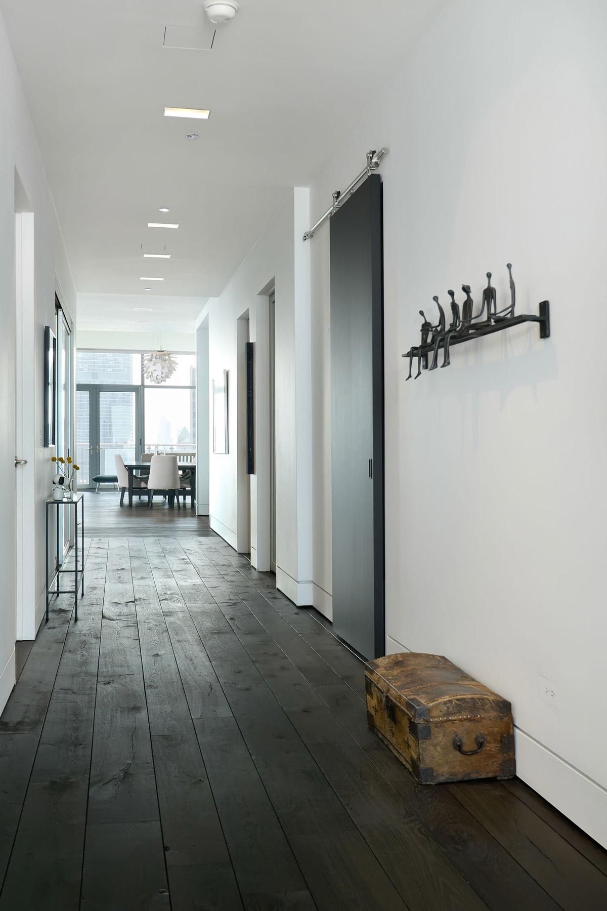Dark Wood Floor & Hall