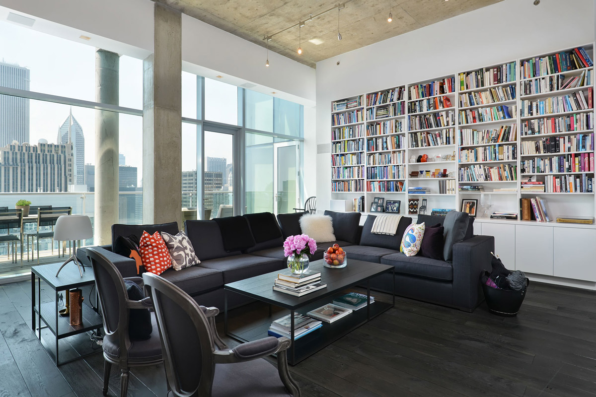 Library, living space
