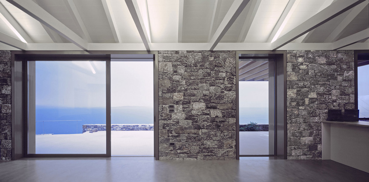 Glass sliding door, sea views