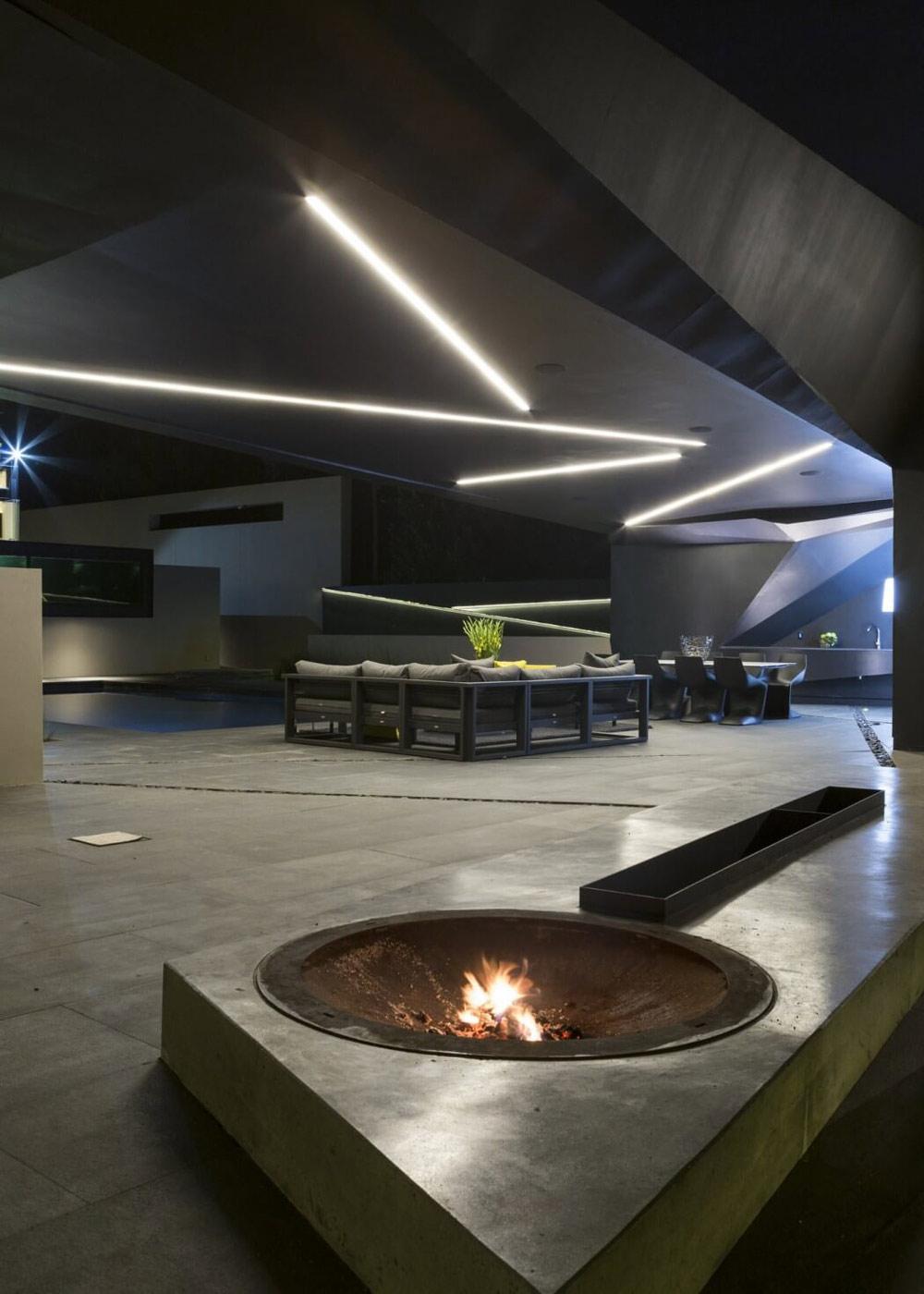 Fire-pit, terrace