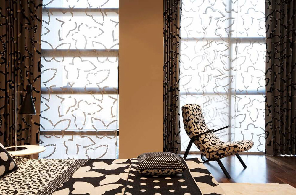 Butterfly Patterned Blinds