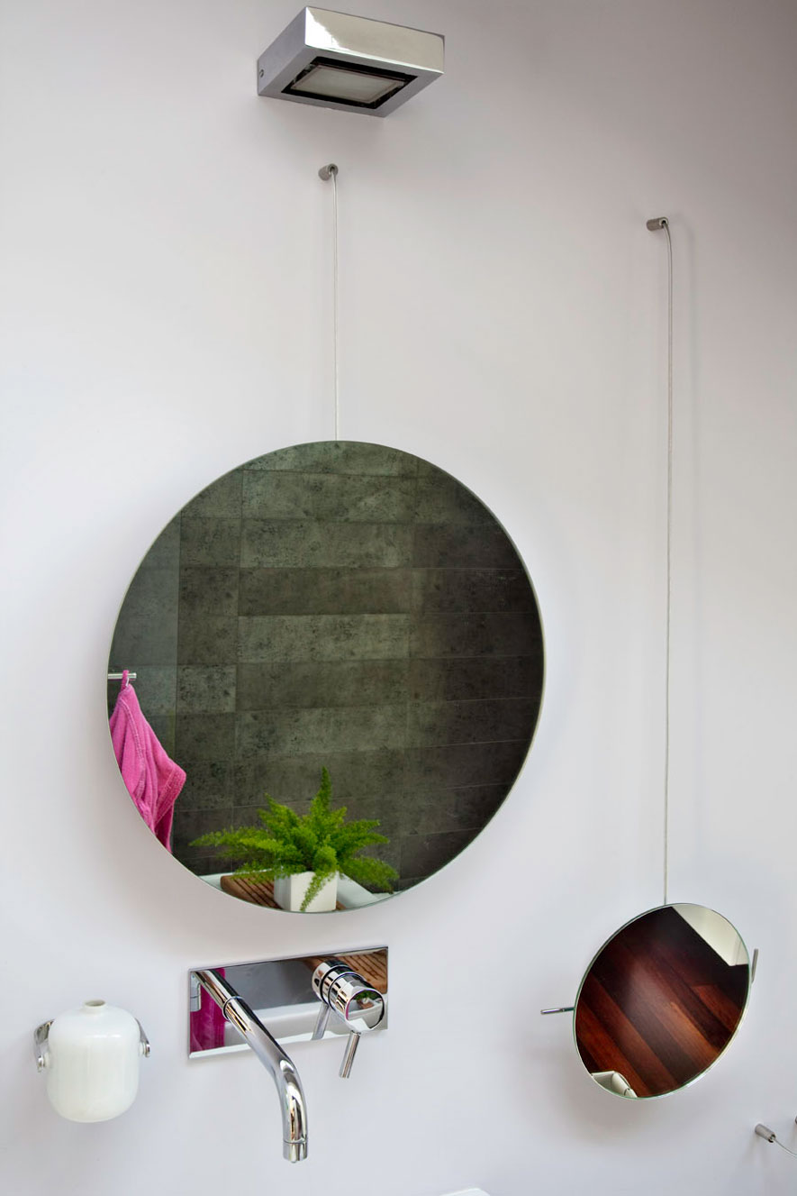 Circular bathroom mirrors