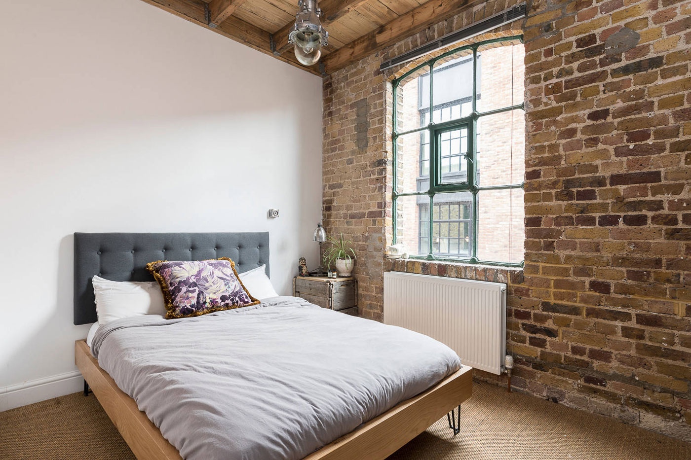 Brick walls, bedroom