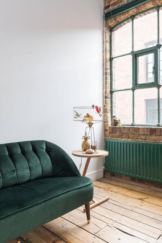 Green sofa table light
