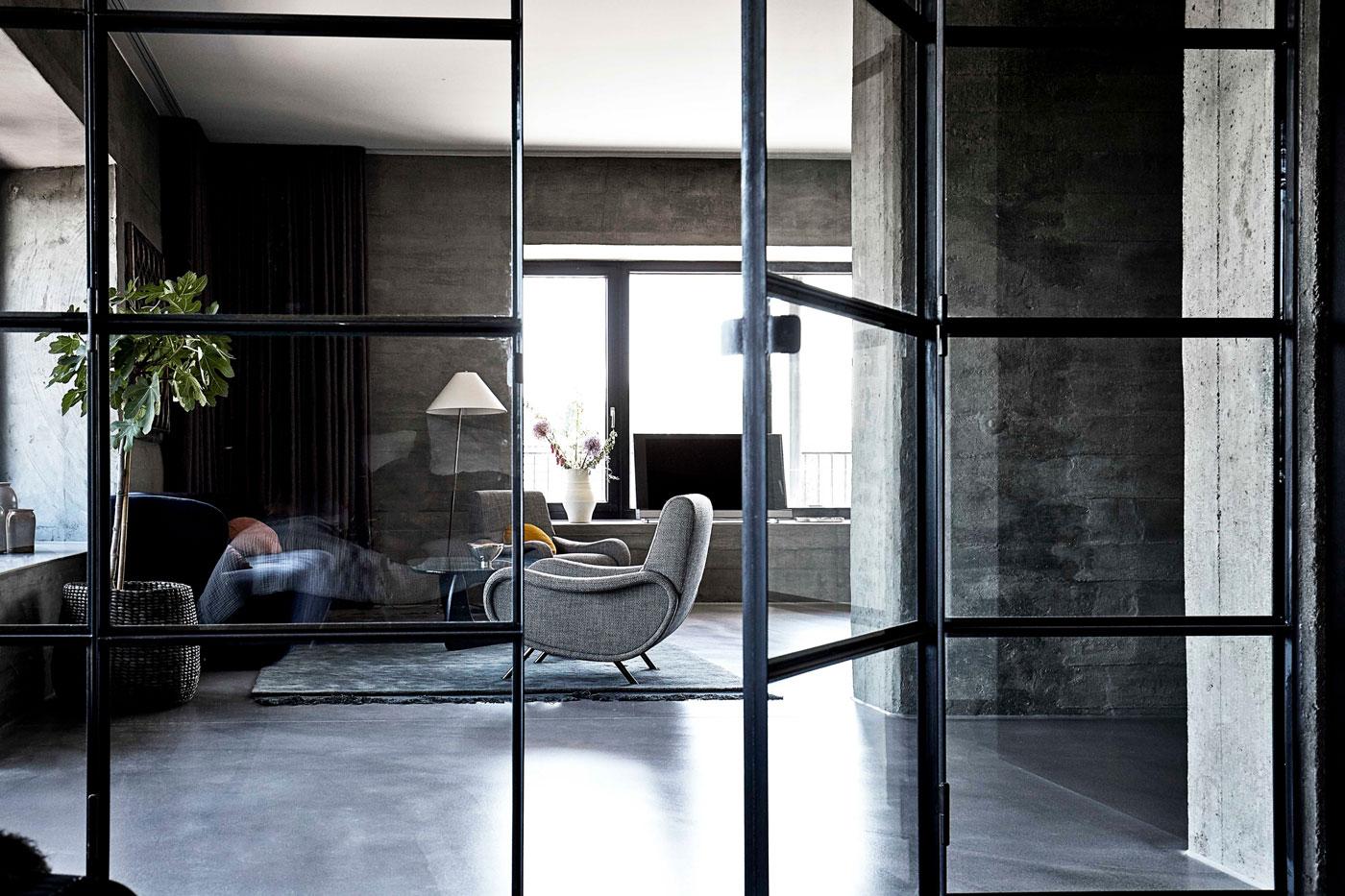 Grey chair, living room