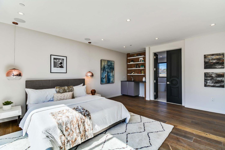 Master bedroom, wooden floor