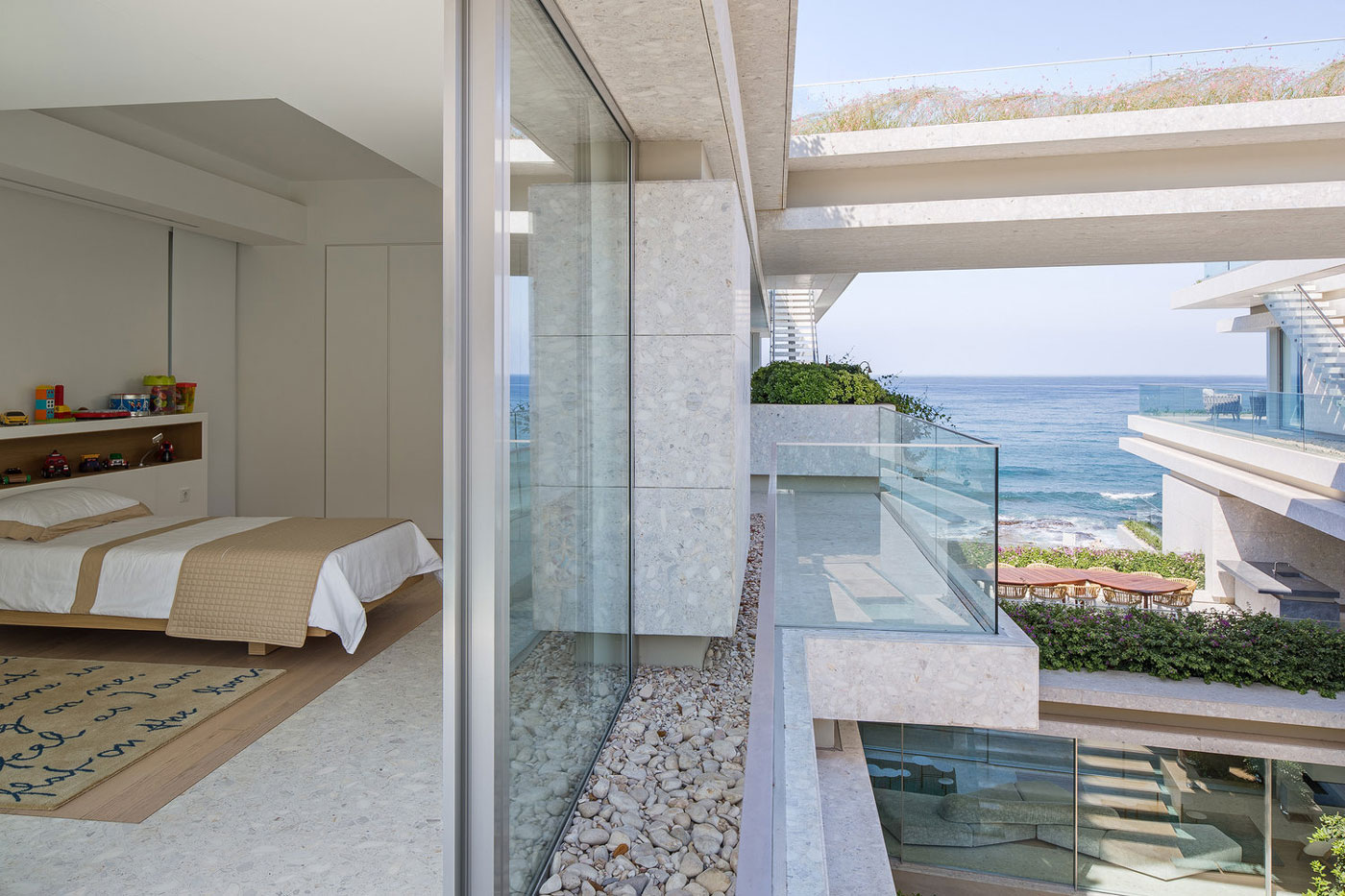 Sea views, bedroom