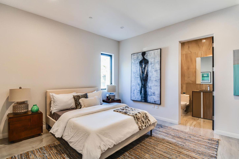 Wooden side table, bedroom
