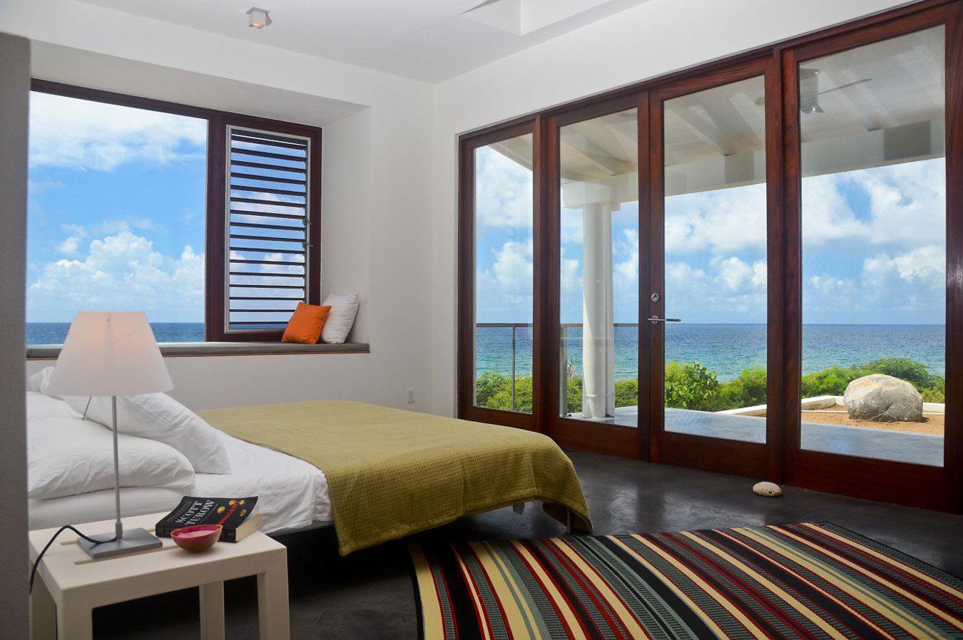 Bedroom with bi-fold doors